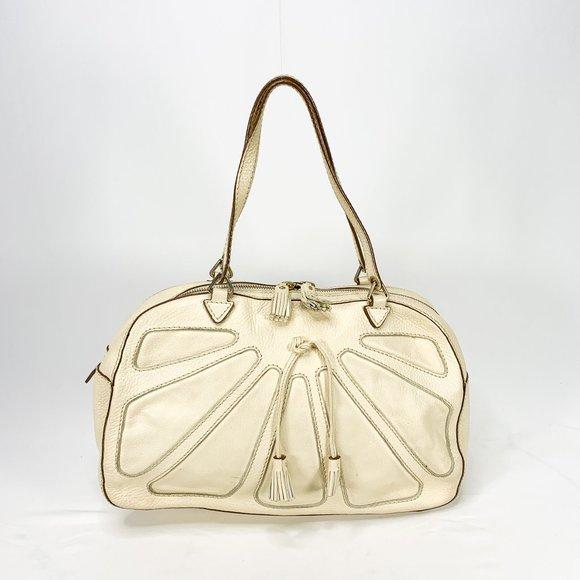 Anya Hindmarch Handbags - ANYA HINDMARCH Pebbled White Leather Bag